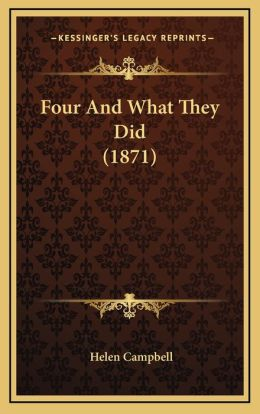 Four And What They Did (1871)