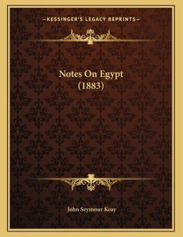 Notes On Egypt (1883)