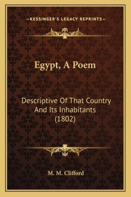 Egypt, a Poem: Descriptive of That Country and Its Inhabitants (1802)