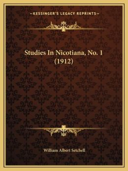 Studies In Nicotiana, No. 1 (1912)