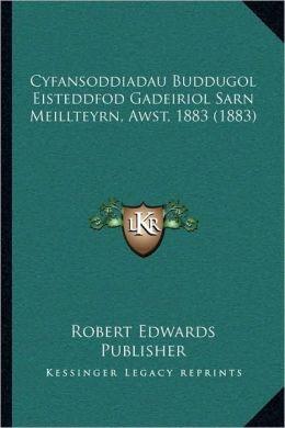 Cyfansoddiadau Buddugol Eisteddfod Gadeiriol Sarn Meillteyrn, Awst, 1883 (1883)