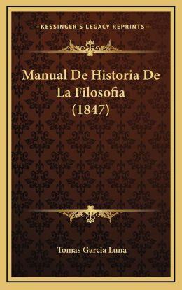 Manual De Historia De La Filosofia (1847)