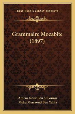 Grammaire Mozabite (1897)