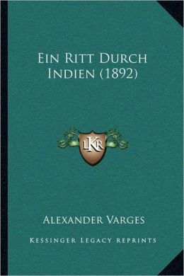 Ein Ritt Durch Indien (1892)