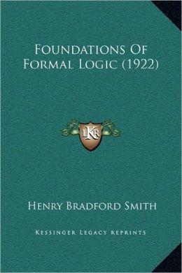 Foundations of Formal Logic (1922)