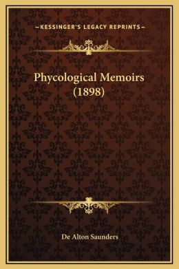 Phycological Memoirs (1898)
