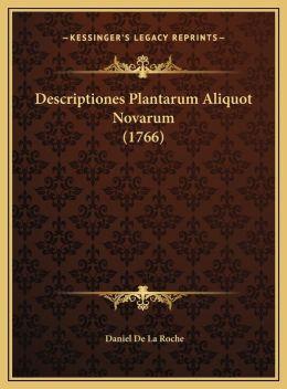 Descriptiones Plantarum Aliquot Novarum (1766)