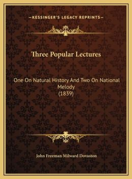 Three Popular Lectures