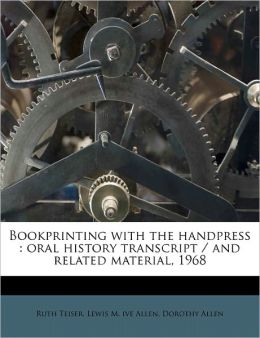 Bookprinting With The Handpress