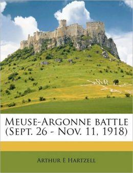 Meuse-Argonne battle (Sept. 26 - Nov. 11, 1918)