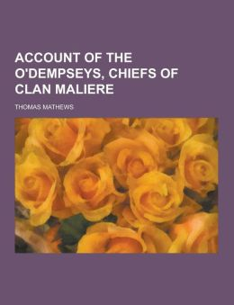 Account of the O'Dempseys, Chiefs of Clan Maliere