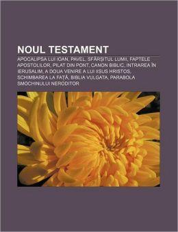 Noul Testament: Apocalipsa Lui Ioan, Pavel, Sfar Itul Lumii, Faptele Apostolilor, Pilat Din Pont, Canon Biblic, Intrarea in Ierusalim