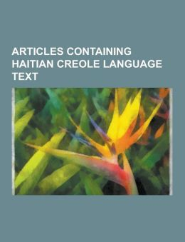 Articles Containing Haitian Creole Language Text: List of Sovereign States, Haiti, Church of the Brethren, Fort-Libert