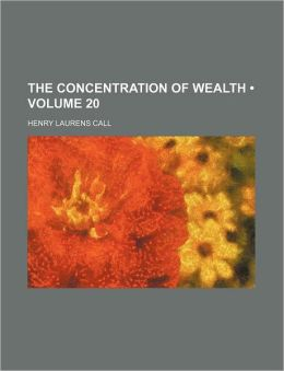 The Concentration of Wealth (Volume 20)