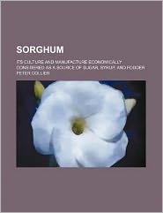 Sorghum; its culture and manufacture economically considered as a source of sugar, syrup, and fodder