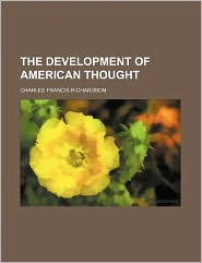 The development of American thought