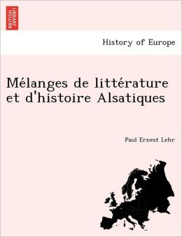 Me langes de litte rature et d'histoire Alsatiques