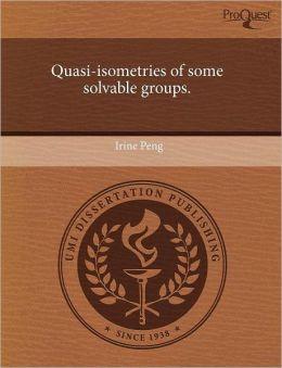 Quasi-Isometries Of Some Solvable Groups.