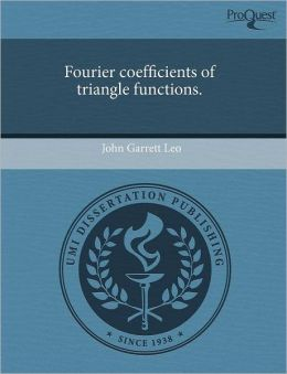 Fourier Coefficients Of Triangle Functions.