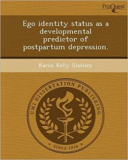 Ego identity status as a developmental predictor of postpartum depression.