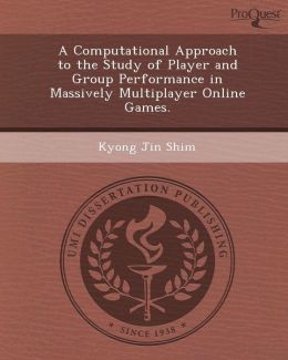 A Computational Approach to the Study of Player and Group Performance in Massively Multiplayer Online Games.