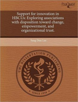 Support For Innovation In Hbcus