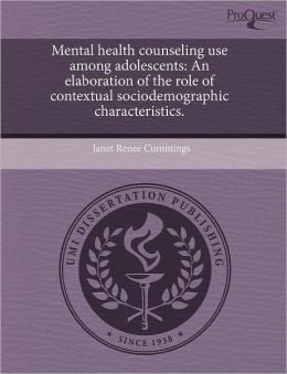 Mental Health Counseling Use Among Adolescents