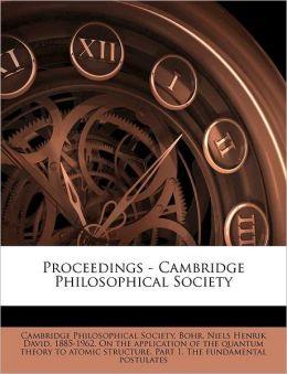 Proceedings - Cambridge Philosophical Society Volume 12