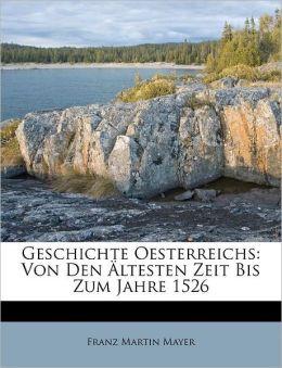 Geschichte Oesterreichs