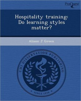 Hospitality training: Do learning styles matter?
