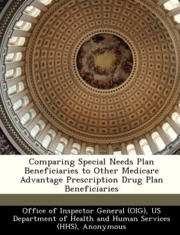 Comparing Special Needs Plan Beneficiaries to Other Medicare Advantage Prescription Drug Plan Beneficiaries
