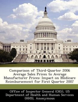 Comparison of Third-Quarter 2006 Average Sales Prices to Average Manufacturer Prices: Impact on Medicare Reimbursement for First Quarter 2007