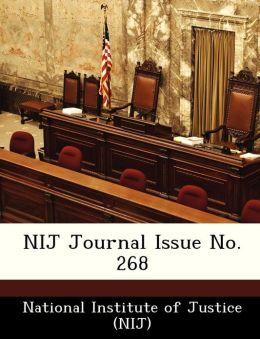 NIJ Journal Issue No. 268
