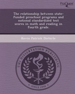 The relationship between state-funded preschool programs and national standardized test scores in math and reading in fourth grade.