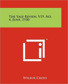 The Yale Review, V19, No. 4, June, 1930
