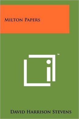 Milton Papers