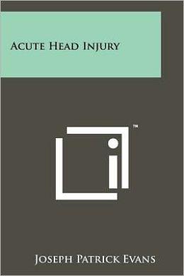 Acute Head Injury