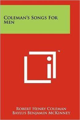 Coleman's Songs for Men