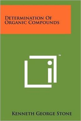 Determination Of Organic Compounds