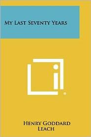 My Last Seventy Years