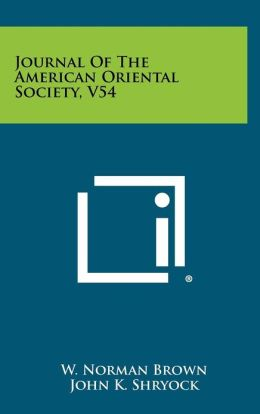 Journal Of The American Oriental Society, V54