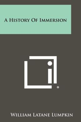 A History Of Immersion