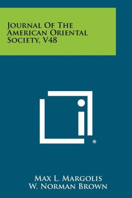 Journal Of The American Oriental Society, V48