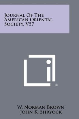 Journal Of The American Oriental Society, V57