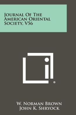Journal of the American Oriental Society, V56