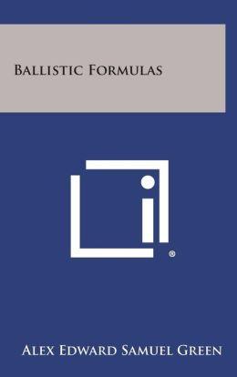 Ballistic Formulas