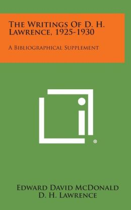 The Writings of D. H. Lawrence, 1925-1930: A Bibliographical Supplement
