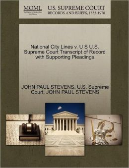 National City Lines v. U S U.S. Supreme Court Transcript of Record with Supporting Pleadings
