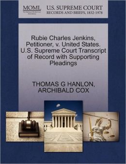 Rubie Charles Jenkins, Petitioner, V. United States. U.S. Supreme Court Transcript Of Record With Supporting Pleadings