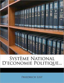 Syst me National D'economie Politique...